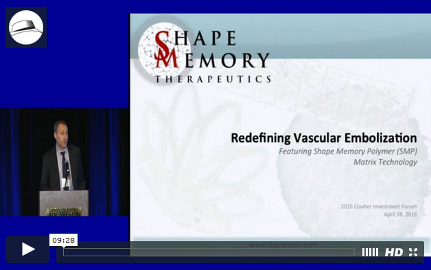 Presentation: Shape Memory Therapeutics